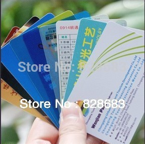 Heldberg offset printing PVC Business card / UV Spot Printed / 500pcs / 0.38mm