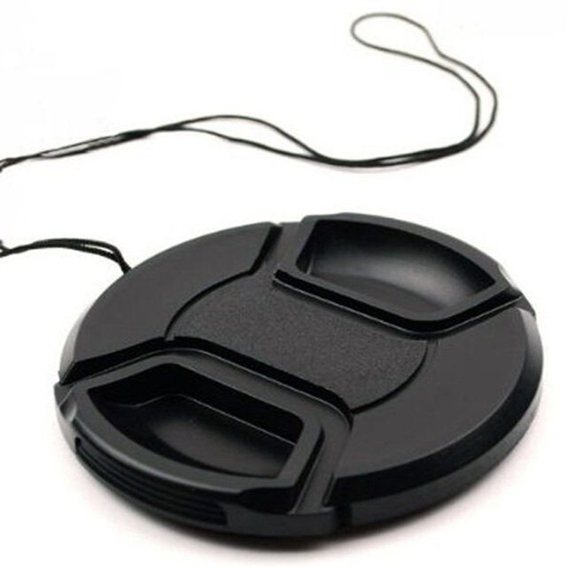 58mm Center-Pinch Snap-On Front Lens Cap w/ Cord lens protector for Canon Nikon sony DSLR camera