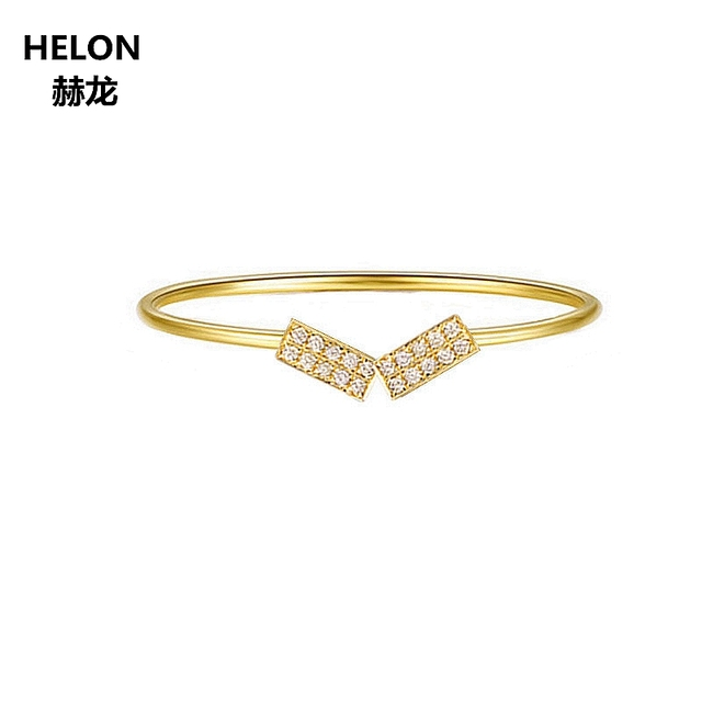 14k Solid Yellow Gold SI/H 1/10CT Natural Diamonds Engagement Ring for Women Wedding Band Fine Jewelry Trendy Anniversary