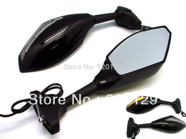 Integrated Turn Signal Mirrors for Kawasaki Ninja ZX6R ER6F 636 Z750S Z750 ZX9R