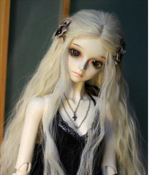 European Style New Arrival 1/3 1/4 BJD/SD Doll Wig High Temperature Long Fashion Curly For BJD Hair Wig