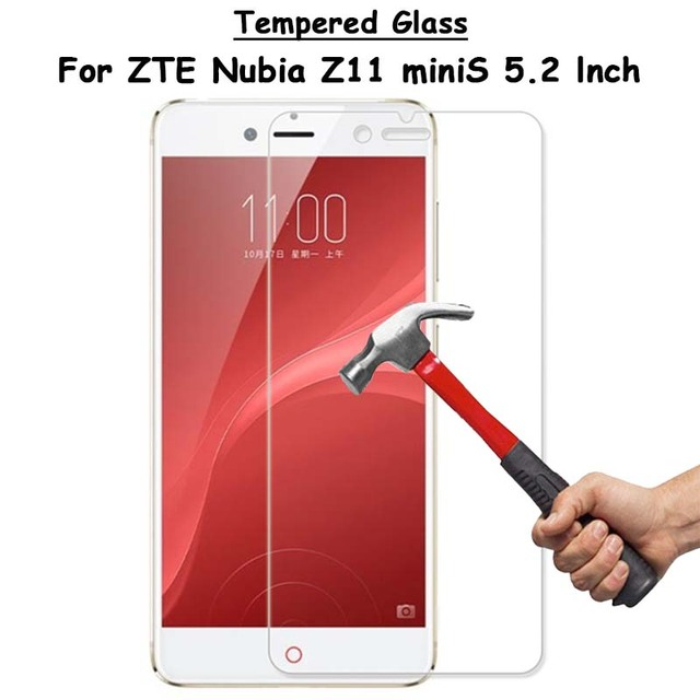 """For ZTE Nubia Z11 Mini S MiniS 5.2"""" Clear Tempered Glass Screen Protector Ultra Thin Explosion-proof Protective Film + Clean Kit"""