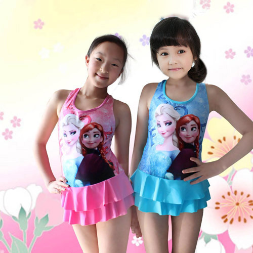 2015 new arrival brand One piece skirt swimsuit children/girl/kids'swimwear/beach wear/bikini/ bathing suit/swimming wear