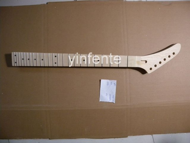 New Unfinished electric guitar neck Guitar Parts Left hand Maple wood fretboard Tele model 1pcs #2