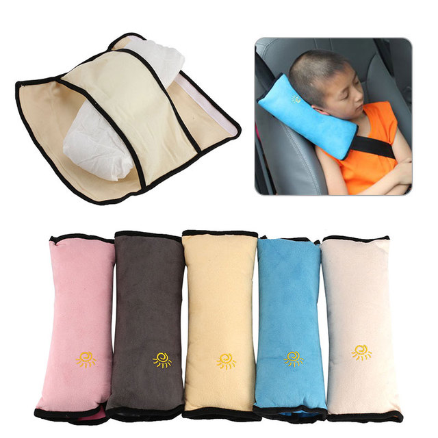 Baby Children Safety Strap Micro-suede Fabric Car Seat Belts Pillow Shoulder Protection car-Styling 28x9x12cm