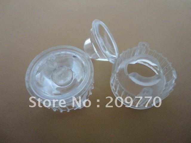 Wholesale- LED lens 20MM 20 degrees concave optical lens Contain bracket 1W 3W Reflector Collimator