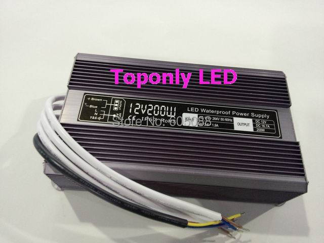 2016 New DC24v 200w led power supply ip67 waterproof led transformer constant voltage led driver CE&ROHS AC110v 220v input
