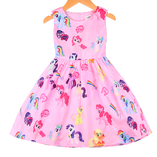 Baby Girl Summer Dress High-Grade Princess Fancy Kids Clothes Vestidos for Birthday Party Costume Cosplay children Pony dresses