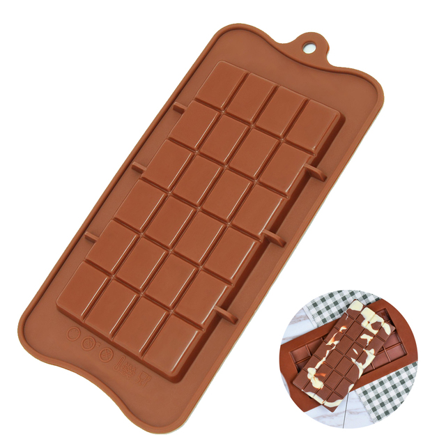 Baking molds silicone Chocolate Mold High Quality Square Eco-friendly Silicone DIY 1PCS food grade 24 Cavity Silicone mold