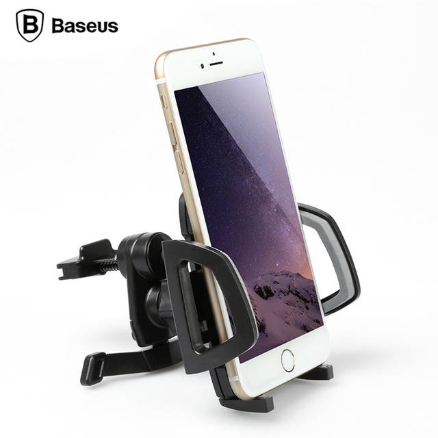Baseus Universal Flexible Air Vent Mount Mobile Car Phone Holder For iPhone Samsung Xiaomi GPS Soporte Movil Phone Stand