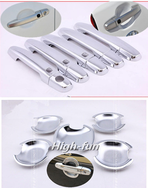 For Toyota RAV4 5 Door 2006 2007 2008 2009 2010 2011 2012 2013 New Chrome Car door handle + Cup Bowl covers with Smart Buttons