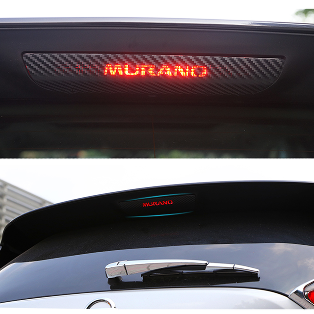 For Nissan New Murano 2015 2016 Car Stickers Brake Light Protective Sticker Case Carbon Fiber Car Styling 1pc