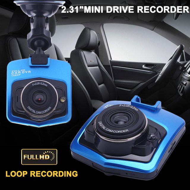 DVR Motion Detection Automobile Support TF Card Premium Auto Power-Off Car Camera Loop Recording Wide Angle 170 Degrees