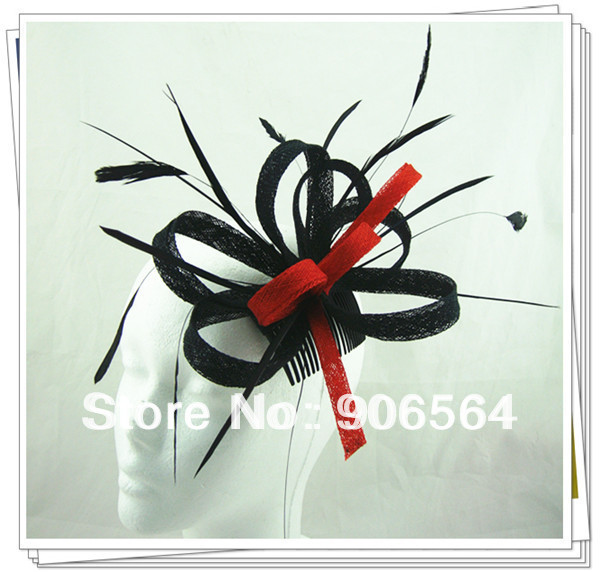 kentucky derby sinamay fascinator hats good bridal wedding hats cocktail hats Very nice Free shipping 17 colors available MSF179