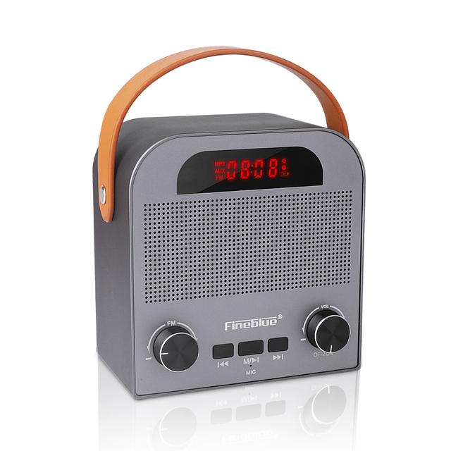 FM888 Wireless Bluetooth 4.2 Speaker With FM TF card play Aux input 2000mAh battery for phone