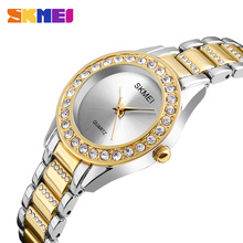 SKMEI Casual Women Watch Fashion Ladies Watches Top Brand Luxury Diamond Quartz Watch Female Clock Relogio Feminino Montre Femme