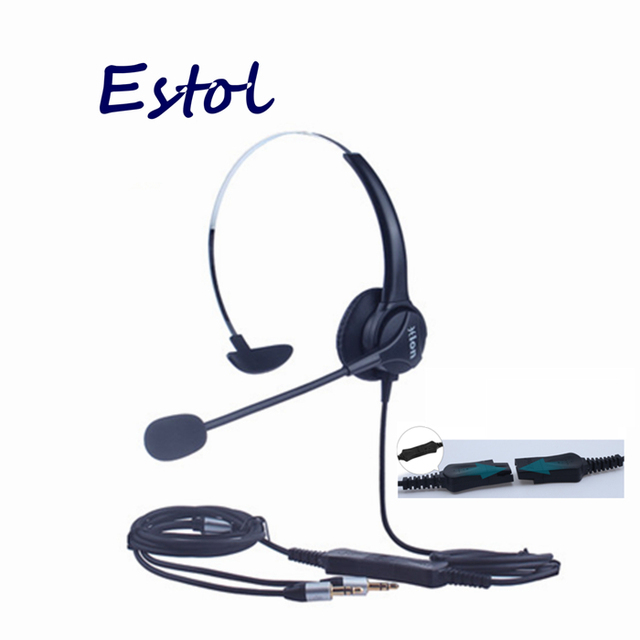 HD voice professional computer dual 3.5 mm plug with QD cable call center headset,training center earphone,PC Headphone