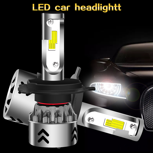 Front Lamp LED Headlight Super Bright LED Fog Light Safety Lighting Assembly H4/HB2/9003 8000LM Universal 80W High Power