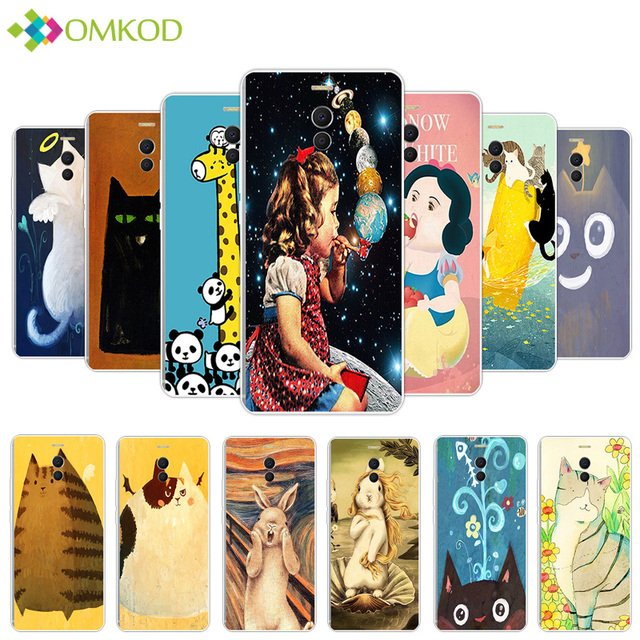 For Meizu M6 Note Fat Animals Phone Case for Meizu Meilan Note 6 Utral Thin Silicone Protector Back Phone Cover For Meizu M6Note
