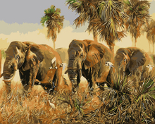 Elephant Frameless Picture Painting By Numbers DIY Canvas Oil Painting Home Decoration Living Room Wall Art GX9585 40*50vm