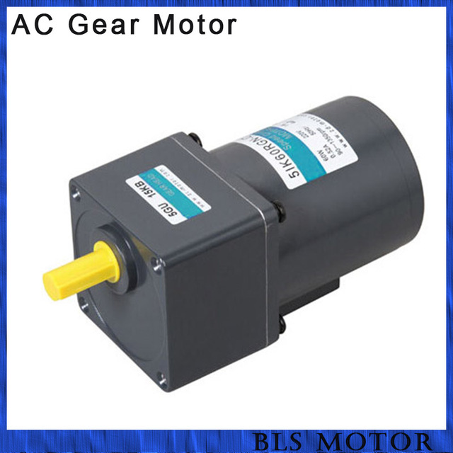 60W ac gear motor with speed controller gear reducer induction motor