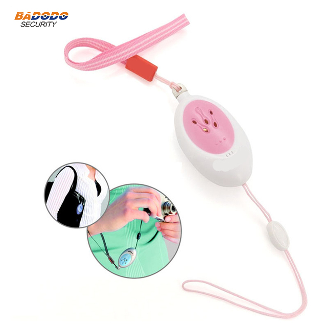 Mini pink Alert Self Defense Emergency Alarm pull pin trigger Alarm Doberman SE-0201 with 100dB loud for personal alarm