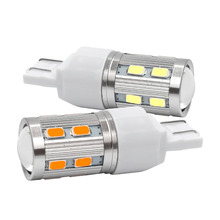 2pcs High Quality T20 7443 W21/5W 16 SMD 5730 5630 LED Super Bright Brake Bulb Tail Stop Lights Rear Fog Lamps 12V 2X