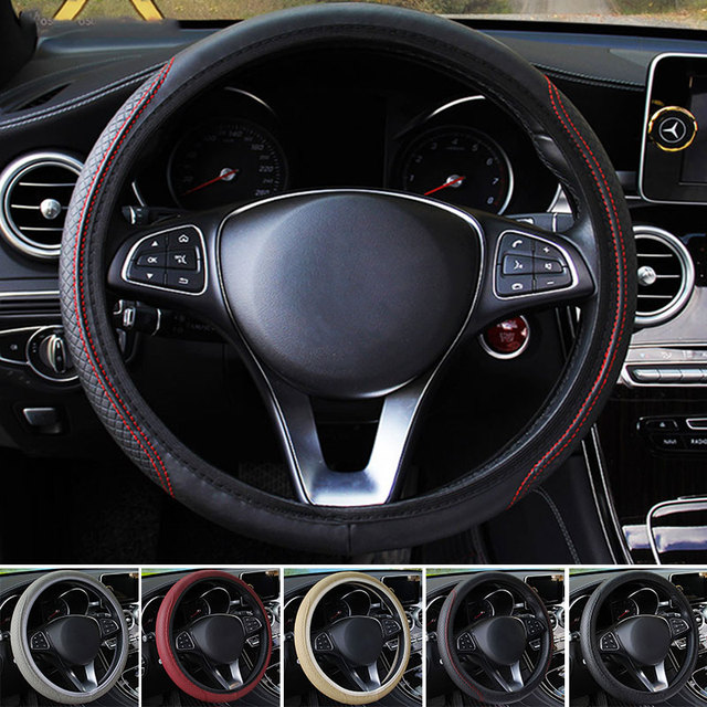 Vehemo Cars Steering Wheel Steering Wheel Wrap Auto Steering Wheel Covers Universal Dish Sets Cover Decoration Accessories