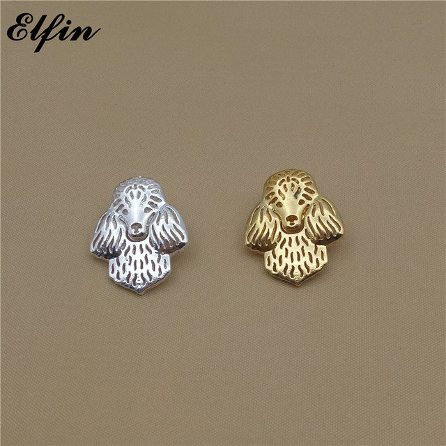 Elfin Cute Poodle Brooches Gold Color Silver Color Poodle Brooches Jewellery