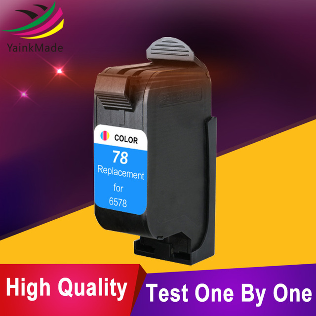 1pcs 78xl remanufactured Ink Cartridge for HP 78 Color Inkjet Cartridge Replacement for HP 1180c 1220c 1280 1600c 6122 Printer