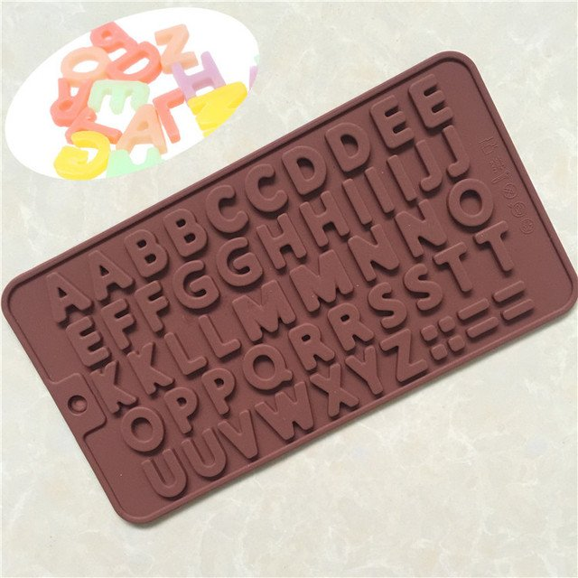26 English Letter Type Muffin Sweet Candy Jelly Fondant Cake Chocolate Mold Silicone Tool Baking Pan