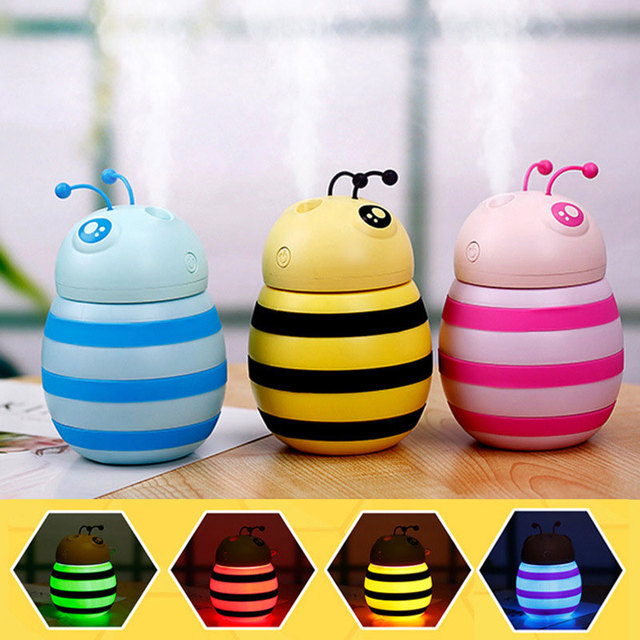 2019 Drop Shpping Littie Bee Air Purifier Humidifier Multi-Function Practical Gifts Aromatherapy Diffuser for Office