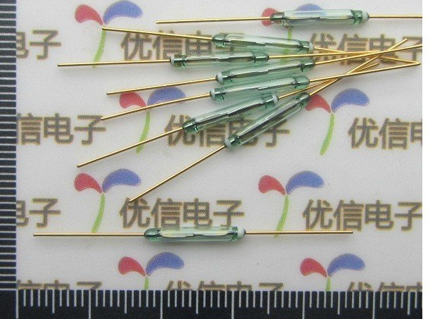 Gold plated Glass sealed reed switchs / magnetically controlled switch  1.75*9.5MM