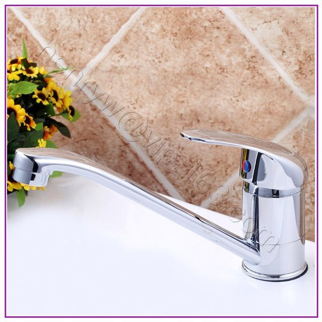 L15655 - Luxury Deck Mounted Chrome Color Brass Material Hot & Cold Water Sink Faucet