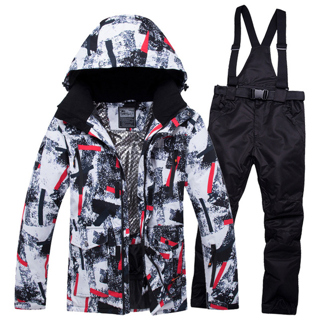 Mens Ski Suit Winter Outdoor Snowboard Sets Waterproof Snow Ski Clothes Roupa De skiing Jacket + Snow Pants Warm And Windproof