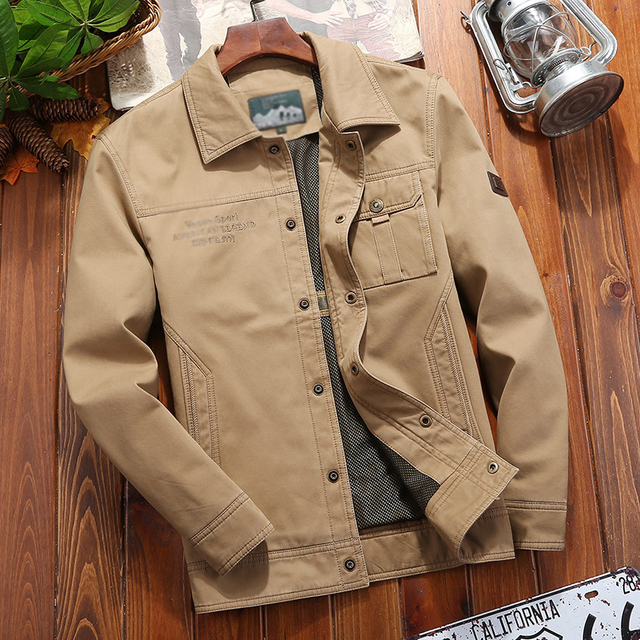 2018New Fashion Men clothing casual jacket embroidery comfortable blouse outfit long sleeve outwear turn down collar thin jacket