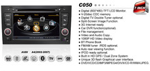3G USB In dash 2din 7inch Car DVD player with PIP bluetooth Radio TV GPS Navigation for Audi A4 2002-2007