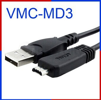 USB Cable VMC-MD3 For Sony CyberShot DSC H70 HX100V HX7V HX9V T110 T99 TX10 TX100V W560 W570 WX5 WX10 WX9 Camera Connecting Cord