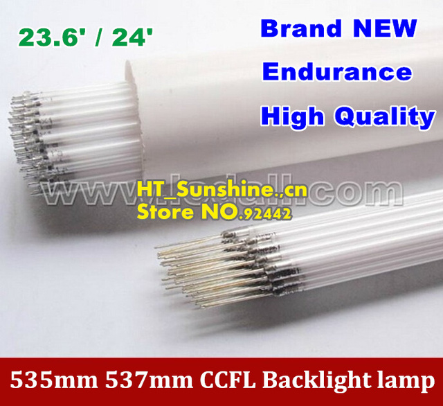 15PCS Free Shipping 535MM*2.4mm 537mm*2.4mm for 23.6inch 24inch TV lamp backlight  CCFL lamp backlight tube