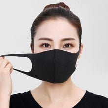 Simple Cotton Mask Simple Masque Unisex Black Cycling Anti-dust Breathable  Mouth Face Mask