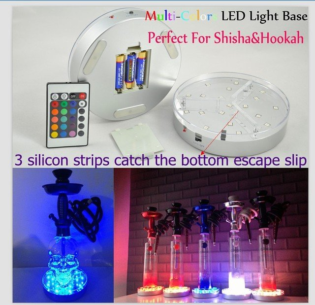 15pcs*KITOSUN 3AA Battery Operated 6inch RGB Color Changing Led Centerpiece Light Base for Tall Glass Vases Decoration
