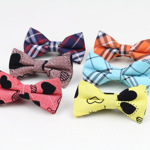 New Style Children Fashion Formal Cotton Bow Tie Kid Classical Striped Bowties Colorful Butterfly Dog Cat Pet Bowtie Tuxedo Ties