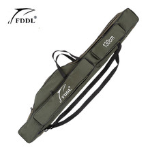 FDDL 2/3 Layer Canvas Fishing Rod Bag 120cm 130cm 15cm Carrier Canvas Backpack Pole Lure Bage Waterproof Case Fishing Tackle
