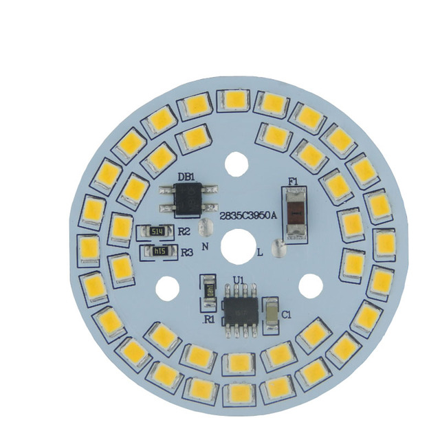 Dimmable led bulb lamps integrated Driver SMD2835 led PCB for round bulb light 3w 5w 7w 9w led PCB assembly Ceiling down light
