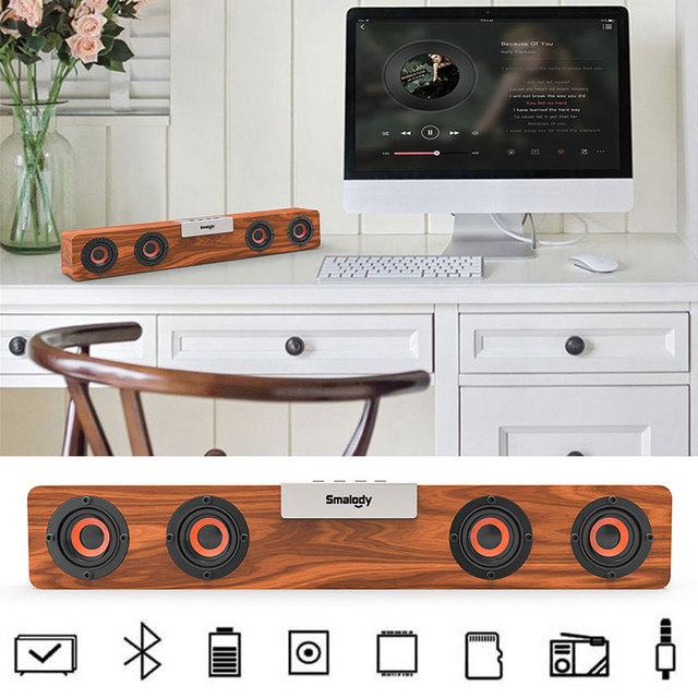 BT5.0 Bluetooth Speaker Wireless Bluetooth Speaker Home Theater Systmes Party Bluetooth Speaker Subwoofer Universal Portable