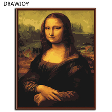 Mona lisa DIY Frameless Pictures Painting By Numbers On Wall Acrylic Painting Unique Gift Digital Canvas Oil Painting G241