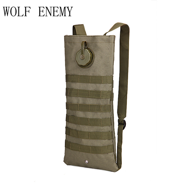 Molle 2.5L Hydration Water Reservoir Pouch Backpack Water Bag Outdoor Sport Hiking Hunting Airsoft Tactical Bike Hunting Bag