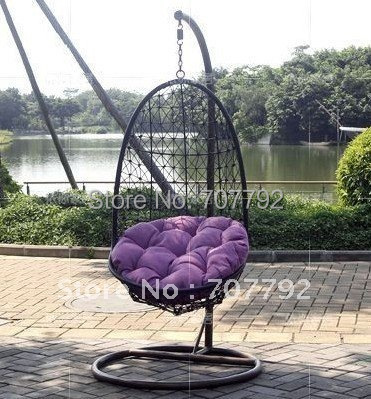 Hot sale SG-TB-012 Rattan garden swing chair
