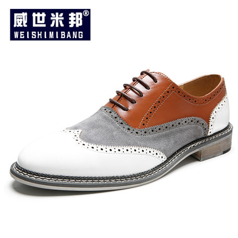 Mens Shoes Oxford Shoes for Men Brogue Shoes Lace Up Microfiber Leather Retro Classic Carving British Style Shoes Fashion