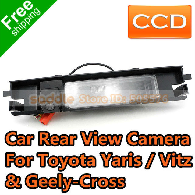 Geely Cross Car Rear Camera , Car BackUp Camera For Toyota Yaris Vitz with Waterproof IP67 + Wide Angle + CCD + Free Shipping